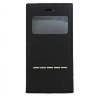 iPhone7/6s/6 ケース 小窓付き手帳型ケース CONQUISTADOR WISDOM ブラック iPhone 7/6s/6