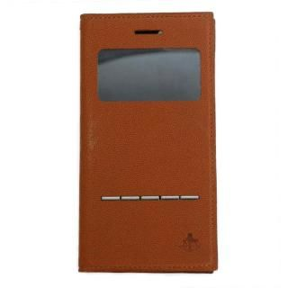 iPhone7/6s/6 ケース 小窓付き手帳型ケース CONQUISTADOR WISDOM ブラウン iPhone 7/6s/6