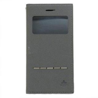小窓付き手帳型ケース CONQUISTADOR WISDOM グレイ iPhone 7/6s/6【4月上旬】