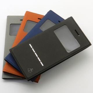 【iPhone7/6s/6ケース】小窓付き手帳型ケース CONQUISTADOR WISDOM ブラック iPhone 7/6s/6_6