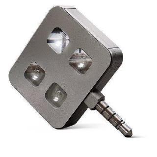 イヤホンジャックLEDフラッシュライト iblazr LED flash プレミアム グレー