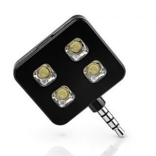 イヤホンジャックLEDフラッシュライト スマホ・タブレット用撮影向け iblazr LED flash ブラック