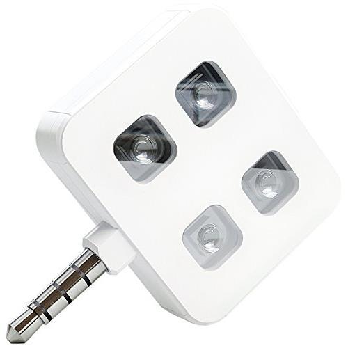 イヤホンジャックLEDフラッシュライト スマホ・タブレット用撮影向け iblazr LED flash ホワイト