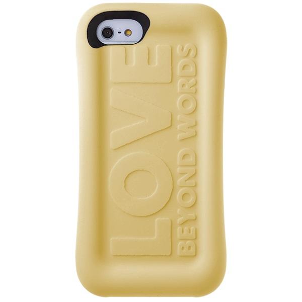 【iPhone SE/5s/5ケース】メッセージソフトケース 石鹸 イエロー iPhone SE/5s/5_0