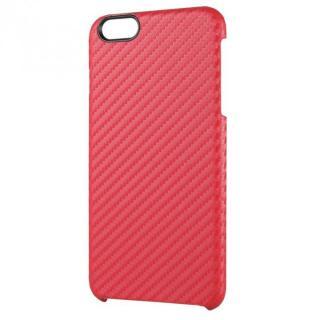 iPhone6 Plus ケース カーボン調 ハードケース レッド iPhone 6 Plus