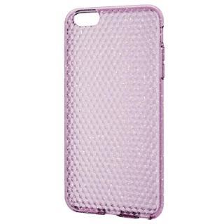 ダイアモンドカットラメ ソフトケース ピンク iPhone 6 Plus