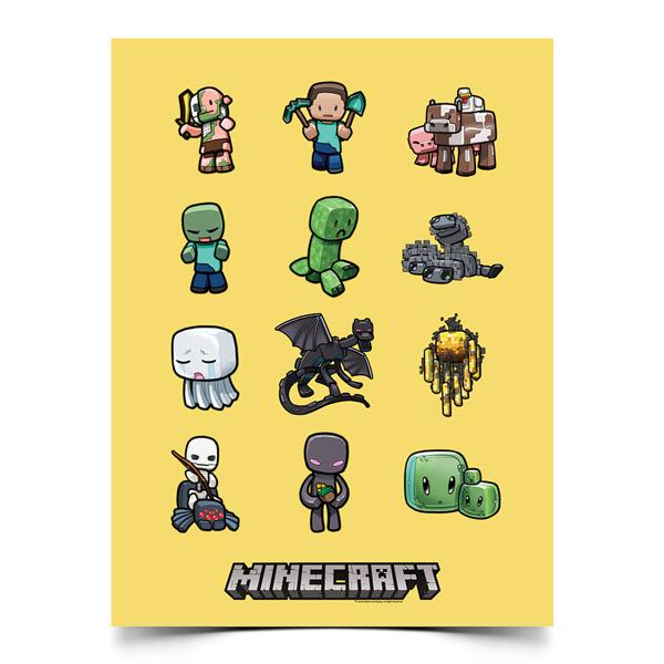 マインクラフト ポスター キャラクター集合