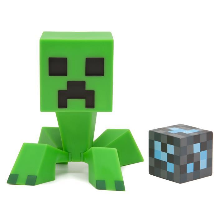 マインクラフト フィギュア クリーパーとダイヤモンドブロック_0
