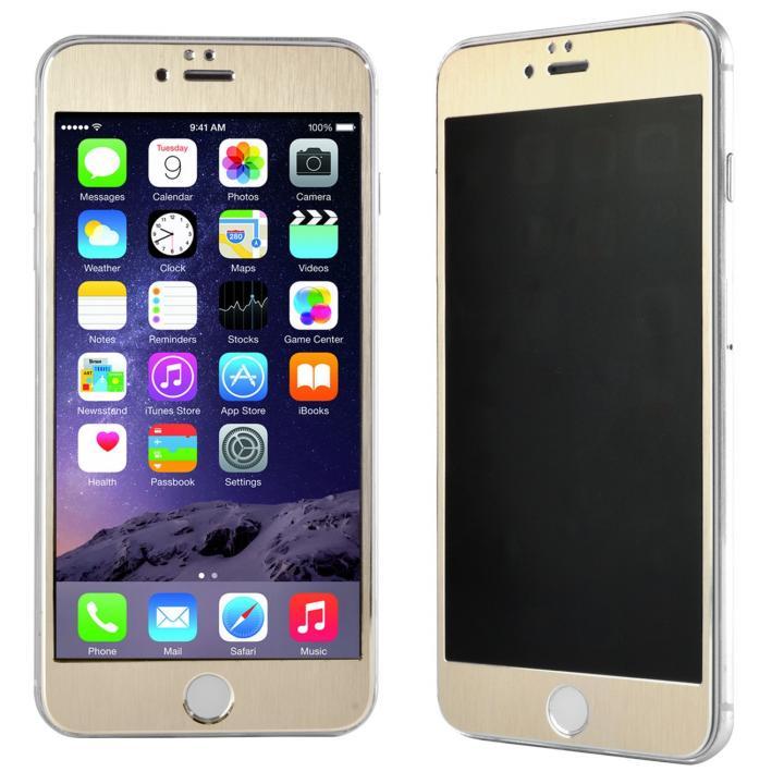 【iPhone6s Plus/6 Plusフィルム】覗き見防止フィルム メタルフレーム ゴールド iPhone 6s Plus/6 Plus_0