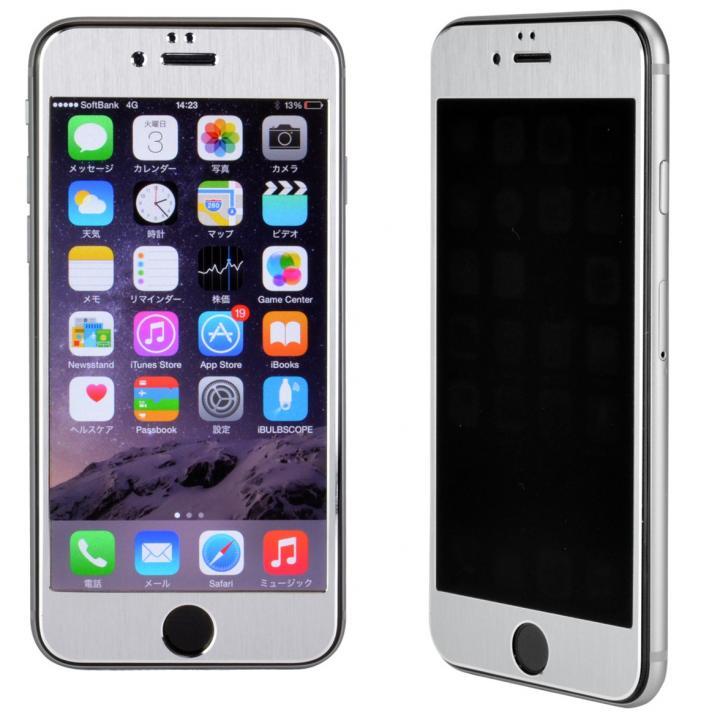iPhone6s/6 フィルム 覗き見防止フィルム メタルフレーム シルバー iPhone 6s/6_0