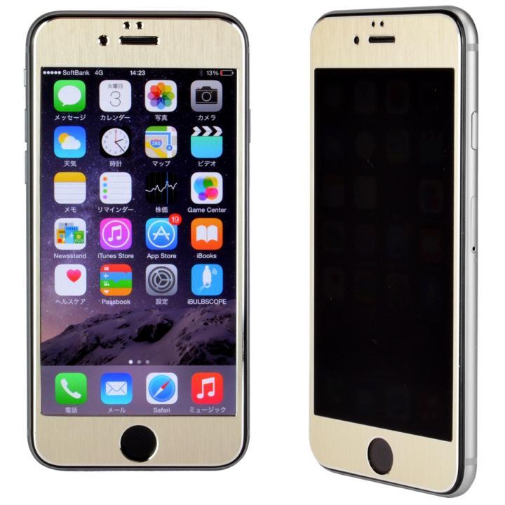 【iPhone6s/6フィルム】覗き見防止フィルム メタルフレーム ゴールド iPhone 6s/6_0