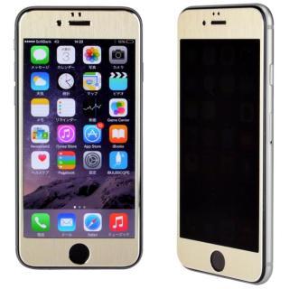 iPhone6s/6 フィルム 覗き見防止フィルム メタルフレーム ゴールド iPhone 6s/6