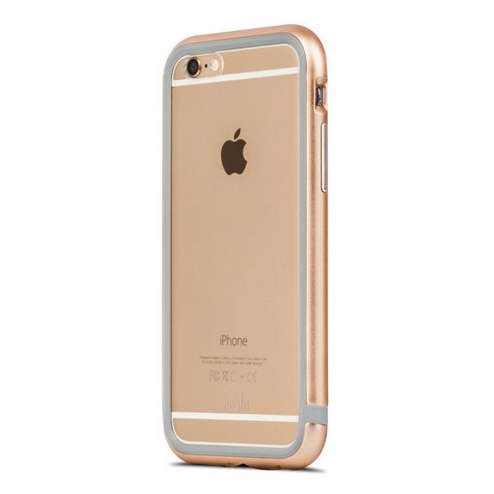 【iPhone6s/6ケース】moshi iGlaze Luxe アルミニウムバンパー サテンゴールド iPhone 6/6s_0