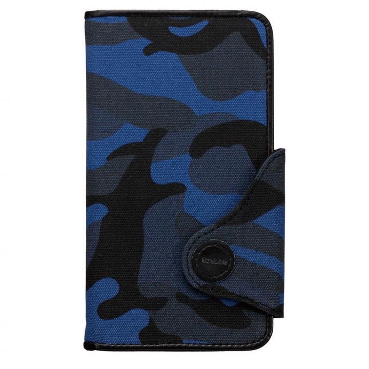 iPhone6s/6s Plus ケース BZGLAM カモフラージュ 手帳型ケース ブルー 多機種(iPhone/Andoroid)対応_0