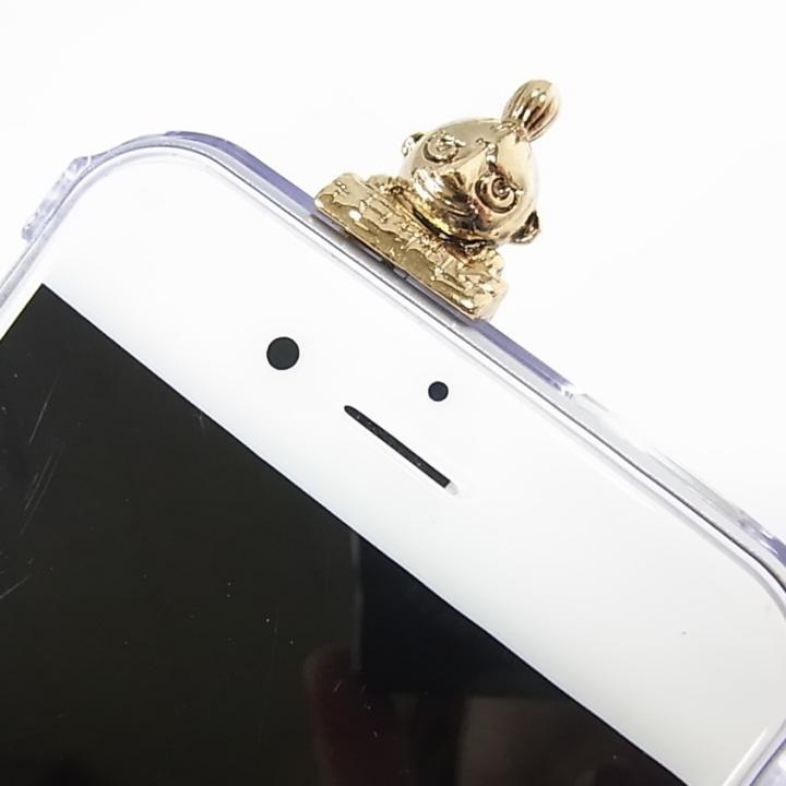 しがみつくミィ ハードクリアケース ゴールド iPhone 6s/6