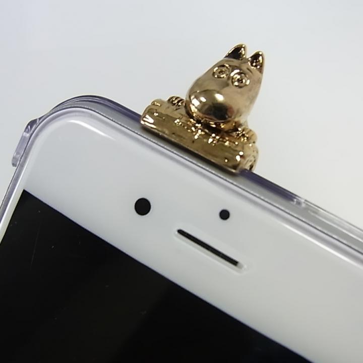 【iPhone6ケース】しがみつくムーミン クリアハードケース ゴールド iPhone 6s/6_0