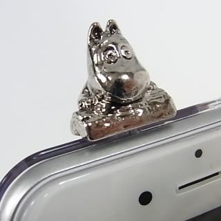 【iPhone6ケース】しがみつくムーミン クリアハードケース シルバー iPhone 6s/6_5