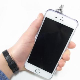 【iPhone6ケース】しがみつくムーミン クリアハードケース シルバー iPhone 6s/6_6