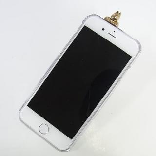 【iPhone6ケース】しがみつくムーミン クリアハードケース ゴールド iPhone 6s/6_1