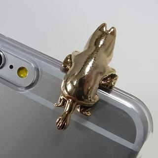 【iPhone6ケース】しがみつくムーミン クリアハードケース ゴールド iPhone 6s/6_2