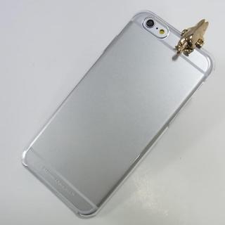 【iPhone6ケース】しがみつくムーミン クリアハードケース ゴールド iPhone 6s/6_3