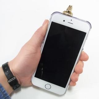 【iPhone6ケース】しがみつくムーミン クリアハードケース ゴールド iPhone 6s/6_7