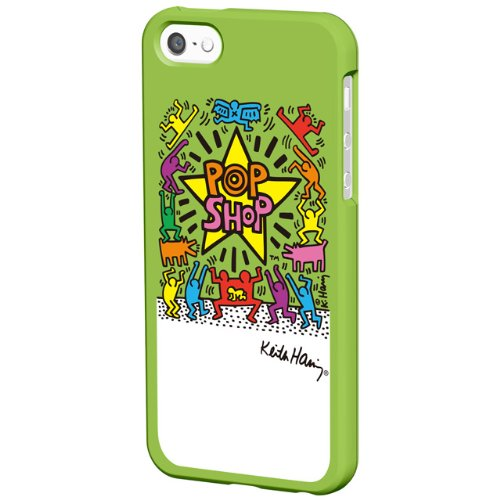 【iPhone SE/5s/5ケース】キース・ヘリング Bezel iPhone SE/5s/5 POP SHOP/Green_0