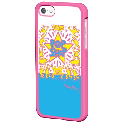 iPhone SE/5s/5 ケース キース・ヘリング Bezel Case iPhone SE/5s/5 POP SHOP/Pink_0
