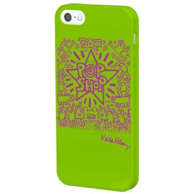 iPhone SE/5s/5 ケース Keith Haring Collection iPhone 5 POP SHOP/Light Green x Purple
