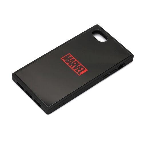 iPhone8/7/6s/6 ケース MARVEL ガラスハイブリッドケース ロゴ/ブラック iPhone 8/7/6s/6_0