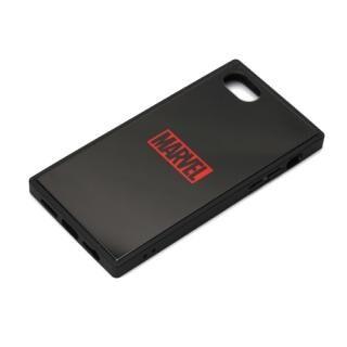 iPhone8/7/6s/6 ケース MARVEL ガラスハイブリッドケース ロゴ/ブラック iPhone 8/7/6s/6