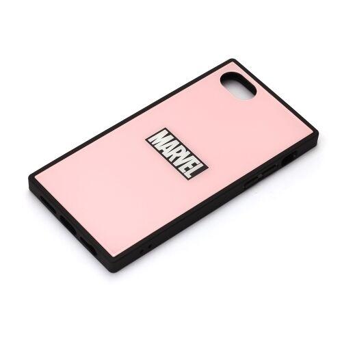 iPhone8/7/6s/6 ケース MARVEL ガラスハイブリッドケース ロゴ/ピンク iPhone 8/7/6s/6_0