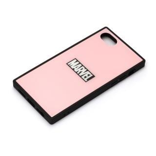 iPhone8/7/6s/6 ケース MARVEL ガラスハイブリッドケース ロゴ/ピンク iPhone 8/7/6s/6