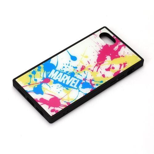 iPhone8/7/6s/6 ケース MARVEL ガラスハイブリッドケース スプラッシュロゴ/ホワイト iPhone 8/7/6s/6_0