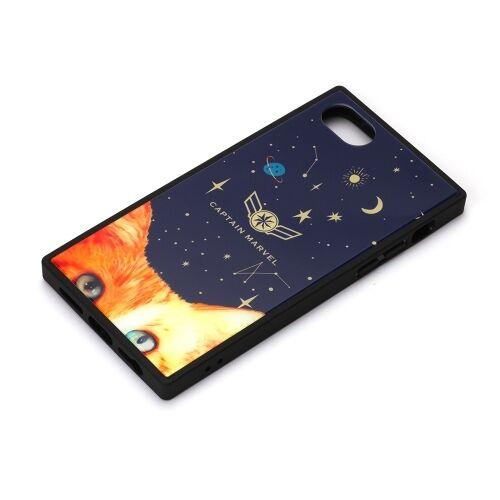 iPhone8/7/6s/6 ケース MARVEL ガラスハイブリッドケース キャプテン・マーベル/ネイビー iPhone 8/7/6s/6_0