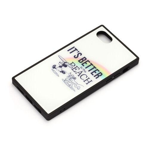 iPhone8/7/6s/6 ケース ディズニー ガラスハイブリッドケース ミッキーマウス/ホワイト iPhone 8/7/6s/6_0