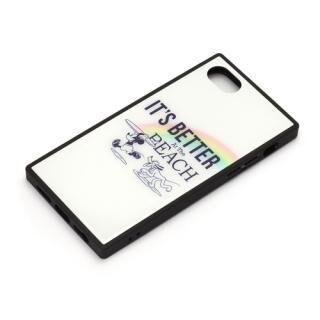 iPhone8/7/6s/6 ケース ディズニー ガラスハイブリッドケース ミッキーマウス/ホワイト iPhone 8/7/6s/6