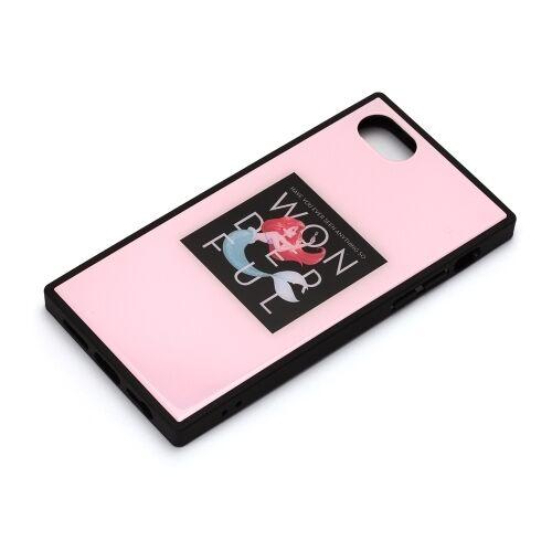 iPhone8/7/6s/6 ケース ディズニー ガラスハイブリッドケース アリエル iPhone 8/7/6s/6_0