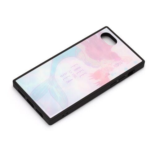 iPhone8/7/6s/6 ケース ディズニー ガラスハイブリッドケース アリエル&セバスチャン iPhone 8/7/6s/6_0
