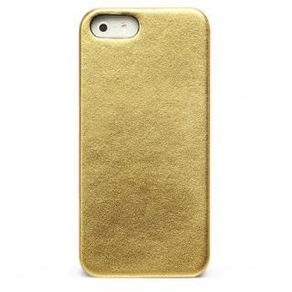 【iPhone SE/5s/5ケース】ZENUS iPhone SE/5s/5 レザー手帳型ケース 本革 ゴールド_3