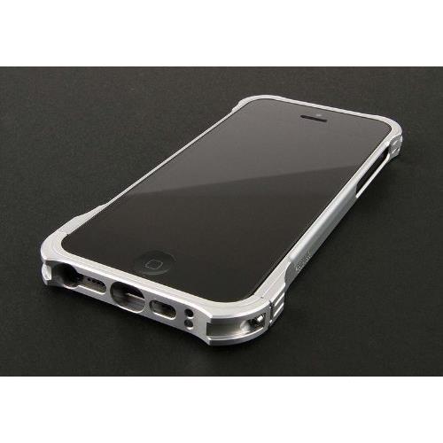 iPhone SE/5s/5 ケース REAL EDGE C-1  iPhone5s/5 アルミバンパー シルバー_0