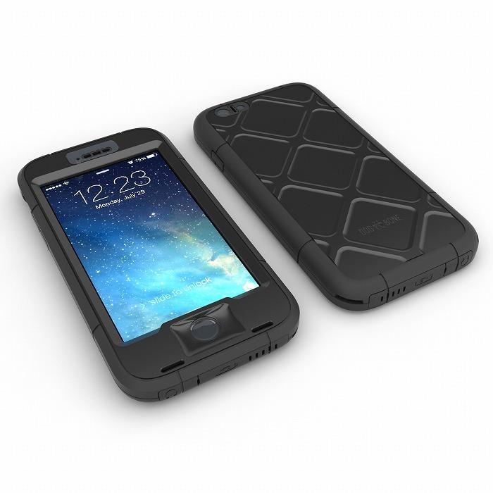 【iPhone6s Plus/6 Plusケース】Touch ID対応 防水/防塵/防雪/耐衝撃ケース WETSUIT ブラック iPhone 6s Plus/6 Plus_0