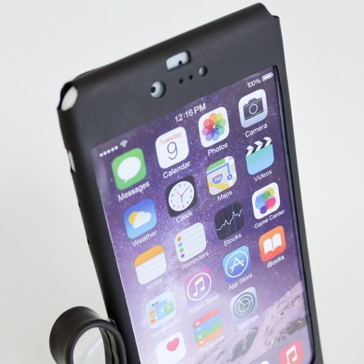 【iPhone6ケース】本革一枚で包み込むケース mobakawa レザーストラップ付き ラバー調加工 ブラック iPhone 6_0