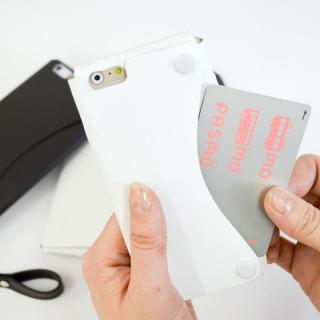 【iPhone6ケース】本革一枚で包み込むケース mobakawa レザーストラップ付き ラバー調加工 ホワイト iPhone 6_2