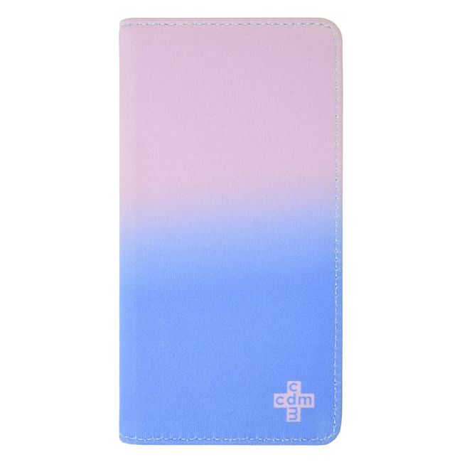 【iPhone8/7/6s/6ケース】CDM グラデーション 手帳型ケース ブルー iPhone 8/7/6s/6_0