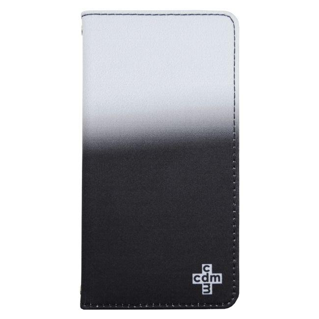 CDM グラデーション 手帳型ケース ブラック iPhone 8/7/6s/6