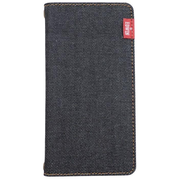iPhone8/7/6s/6 ケース EDWIN タグデニム 手帳型ケース ブラック iPhone SE 第2世代/8/7/6s/6_0