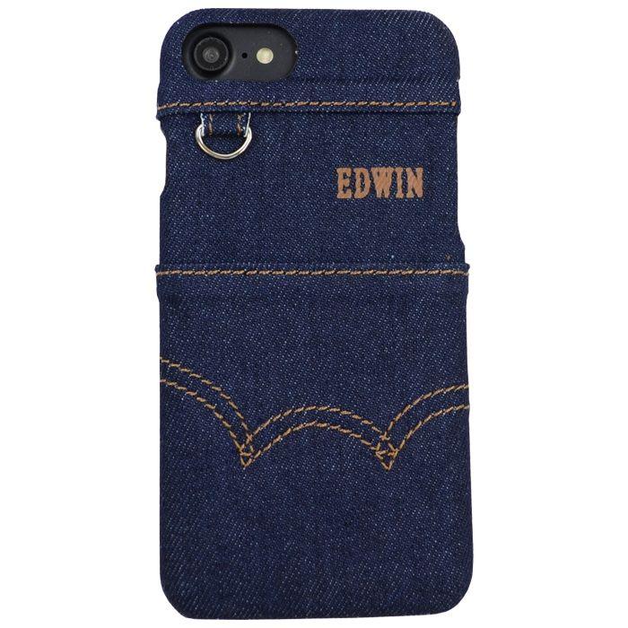 【iPhone8/7/6s/6ケース】EDWIN ステッチデニム ケース インディゴ iPhone 8/7/6s/6_0