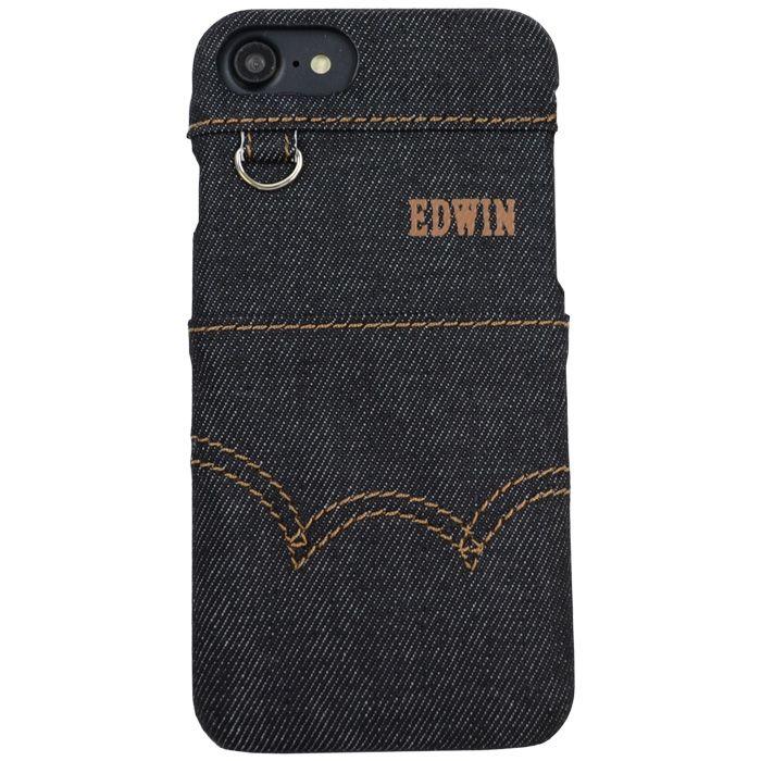 【iPhone8/7/6s/6ケース】EDWIN ステッチデニム ケース ブラック iPhone 8/7/6s/6_0