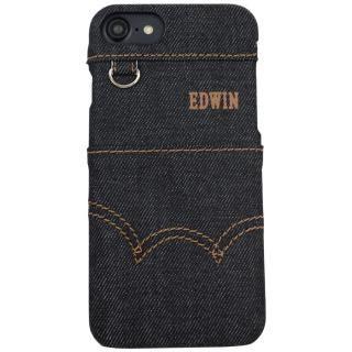 【iPhone8 ケース】EDWIN ステッチデニム ケース ブラック iPhone 8/7/6s/6